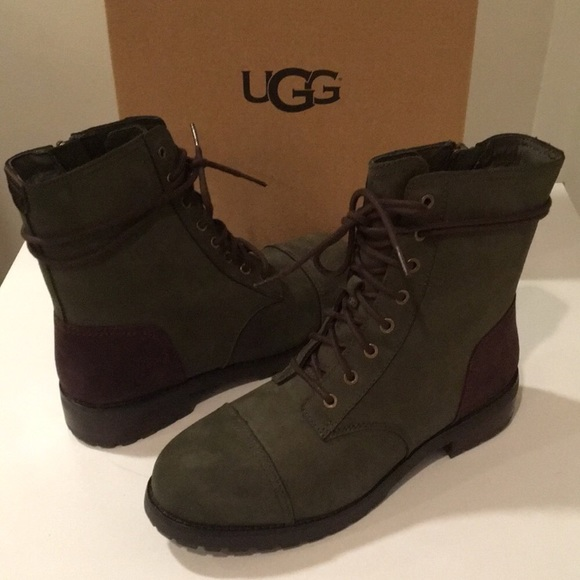 a6ddd43c084 🎁🎄New Ugg Kilmer laced up boots color slate Sz 7 NWT